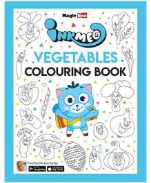 Inkmeo Vegetables Colouring Book - English