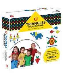 Braino Kids Triangles Magnetic Mosaic Puzzle Multicolour - 420 Pieces