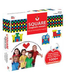 Braino Kids Sqaure Magnetic Mosaic Puzzle Multicolour - 200 Pieces
