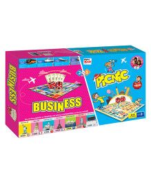 Braino Kidz 2-in-1 Business & Picnic Board Game - Multicolour
