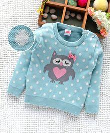 cd4bc039975f Babyhug Full Sleeves Sweater Owl Design - Blue