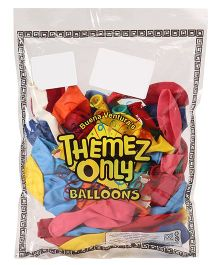 Themez Only Party Balloons Standard Multicolour - 50 Pieces