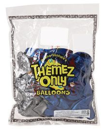 Themez Only Party Balloons Metallic Blue & Silver - 50 Pieces