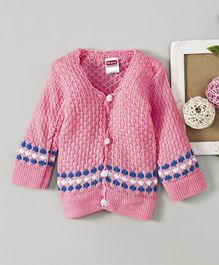 ab91f84d2 Babyhug Full Sleeves Front Open Sweater - Light Pink