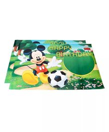 Funcart Mickey Mouse Happy Birthday Poster Green - Pack of 2