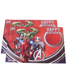 Funcart Avengers Happy Birthday Poster Red - Pack of 2