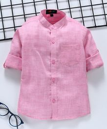Robo Fry Full Sleeves Solid Shirt - Pink