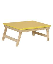 NHR Multipurpose Foldable Wooden Laptop Table - Yellow