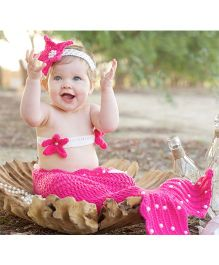 Babymoon Mermaid Designer New Born Baby Photography Props - Pink