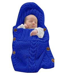 Babymoon Organic Knitted New Born Baby Sleeping Bag - Blue