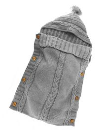 Babymoon Organic Knitted New Born Baby Sleeping Bag - Grey