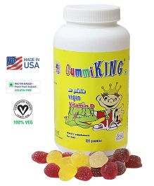Gummiking Sunshine Vitamin D Gummy Family Pack For Strong Immunity - 100 Gummies (Assorted)