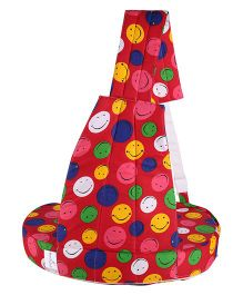 MomToBe Blue Nursing Feeding Pillow Smiley Print - Red