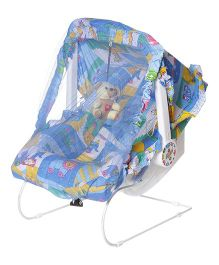 Dash Multipurpose 9 In 1 Baby Carry Cot With Mosquito Net - Blue