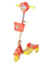Dash Noddy Deluxe Foldable 3 Wheel Kids Scooter - Red