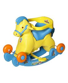 Dash Fashionable Marshal 2 In 1 Baby Horse Rocker 'N' Ride On - Blue