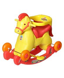 Dash Fashionable Marshal 2 In 1 Baby Horse Rocker 'N' Ride On - Red