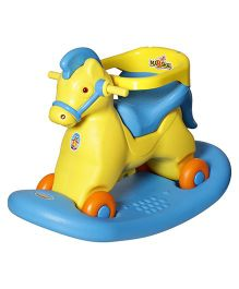 Dash Fashionable Super Deluxe Marshal 2 In 1 Baby Horse Rocker N Ride On - Blue