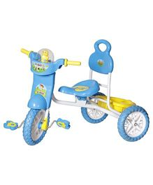 Dash Kids Vega Musical Tricycle With Storage Basket & Lights - Blue