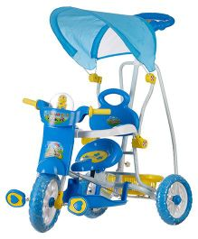 Dash Kids Tricycle With Music & Canopy - Blue