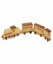 Desi Karigar Jumbo Wooden Train Replica Toy - Brown