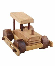 Desi Karigar Wooden Classical Army Tank Toy - Brown