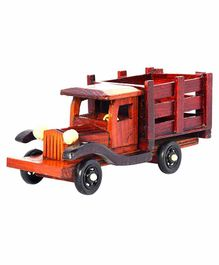 Desi Karigar Vintage Wooden Truck Showpiece - Brown