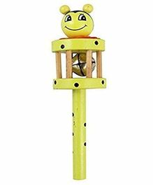 Desi Karigar Wooden rattle Toy (Colour May Vary)