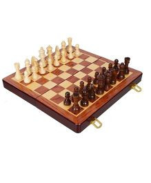 Desi Karigar Wooden Folding Chess Board Brown - 10 inches