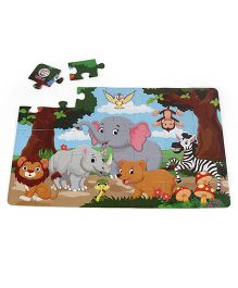 Ratnas Little Jigsaw Puzzle Jungle Multicolor - 35 Pieces