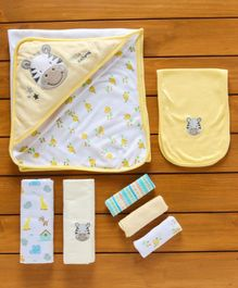 Owen Feeding Starter Gift Set Giraffe Patch - Yellow