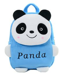 Frantic Velvet Nursery Panda Bag Blue -  14 Inches