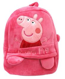 ea559f56bd0 Frantic Velvet Nursery Peppa Pig Bag Pink - Height 14 inches