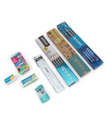 Apsara Scholar's Stationery Kit - 45 Pieces (Color & Style May Vary)