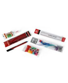 Nataraj Stationery Set Multicolour - 15 Pieces (Packaging May Vary)