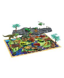 Toys Bhoomi Prehistoric Dinosaur Playset With Play Mat - Multi Color