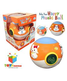 Toys Bhoomi Follow Me Musical Baby Ball With Lights And Sound - Orange Blue