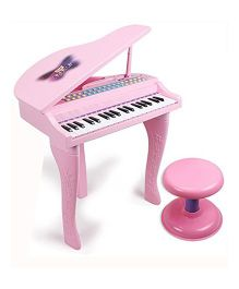 Toys Bhoomi Buddy Fun Electronic Symphonic Piano With MP3 Plug In - Pink