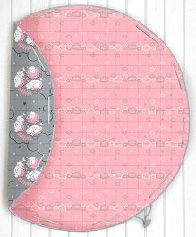 Silverlinen Counting Sheep Quilted Cotton Playmat Cum Storage Bag - Pink and Grey
