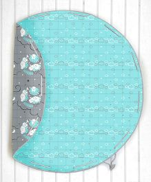 Silverlinen Counting Sheep Quilted Cotton Playmat Cum Storage Bag - Blue and Grey