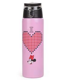 Disney Minnie Mouse Insulated Stainless Steel Bottle With Flip Top Lid Pink - 500 ml