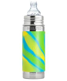 Pura Kiki Stainless Steel Bottle With Sippy Spout Green - 260 ml
