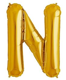 Shopperskart Helium Foil Balloon N Shape - Golden