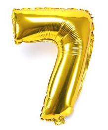 Shopperskart Helium Foil Balloon Number 7 Shape - Golden