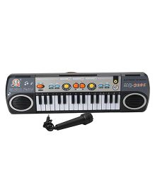 Dr. Toy 31 Keys Electronic Keyboard With Mic - Black
