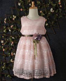 Yiduduo Floral Lace Dress - Pink