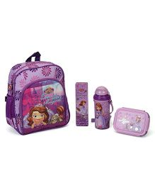 Disney Sofia The First School Kit Character Print Pack of 4 - Purple