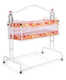 New Natraj Compact Cradle Polka Dot Print - Orange