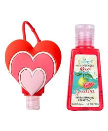 Kleanse's Anti Bacterial Guava Hand Sanitizer With Heart Shape Holder - 30 ml