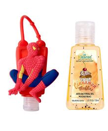 Kleanse's Anti Bacterial Cinnamon Hand Sanitizer With Spider Man Shape Holder - 30 ml